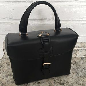 EXPRESSIONS NYC Vintage style box bag - black